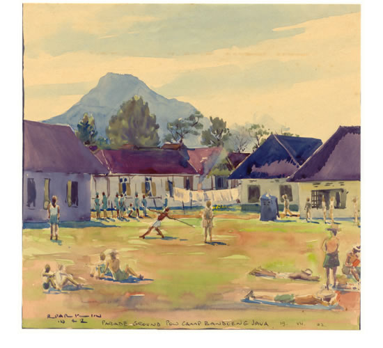 Parade Ground, Bandoeng POW Camp, Java, 1942